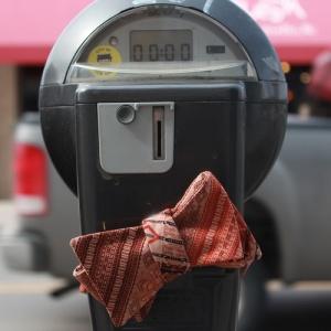 Parking-Meter-Batik-Art-Bow-Tie